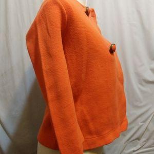 Sweaters - J Crew Women Orange Cardigan Small 100% Cotton